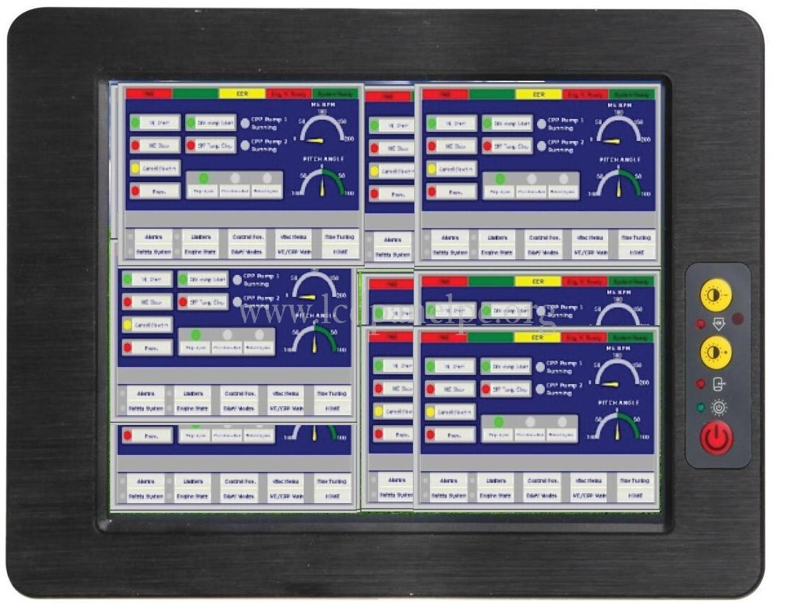 Fanless 10 4 inch all in one Touch Screen Industrial Panel